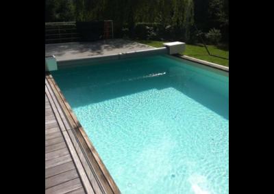 construction piscine en bois enterrée à Liège