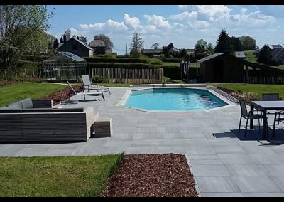 construction piscine en bois et terrasse à Liège