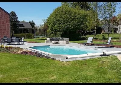 réalisation piscine en bois à Liège