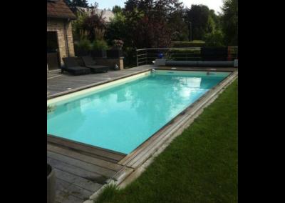 construction d'une piscine en bois à Liège