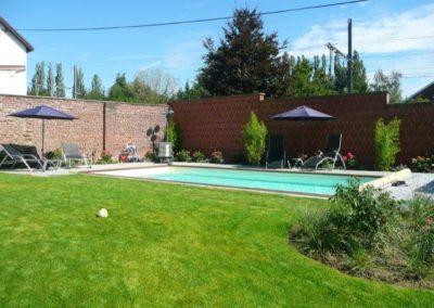 piscine bois, construction à liège
