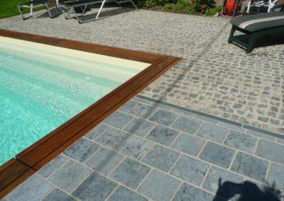 construction d'une piscine en bois par Piscines Concept à Liège