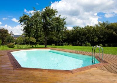 constructeur piscine à ossature bois à Liège