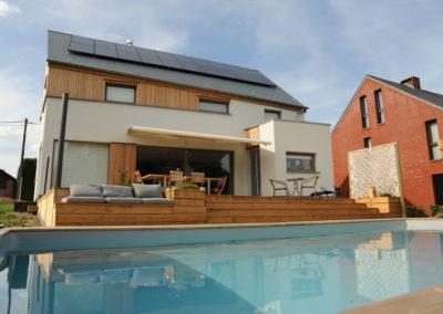 construction piscine à ossature bois à Nandrin