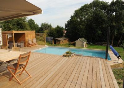 construction piscine à ossature bois à Liège