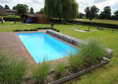 construction piscine bois & béton à Liège